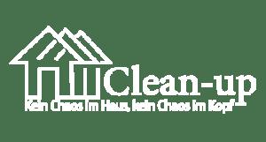clean up logo weiss